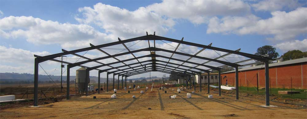 Steel structure under construction